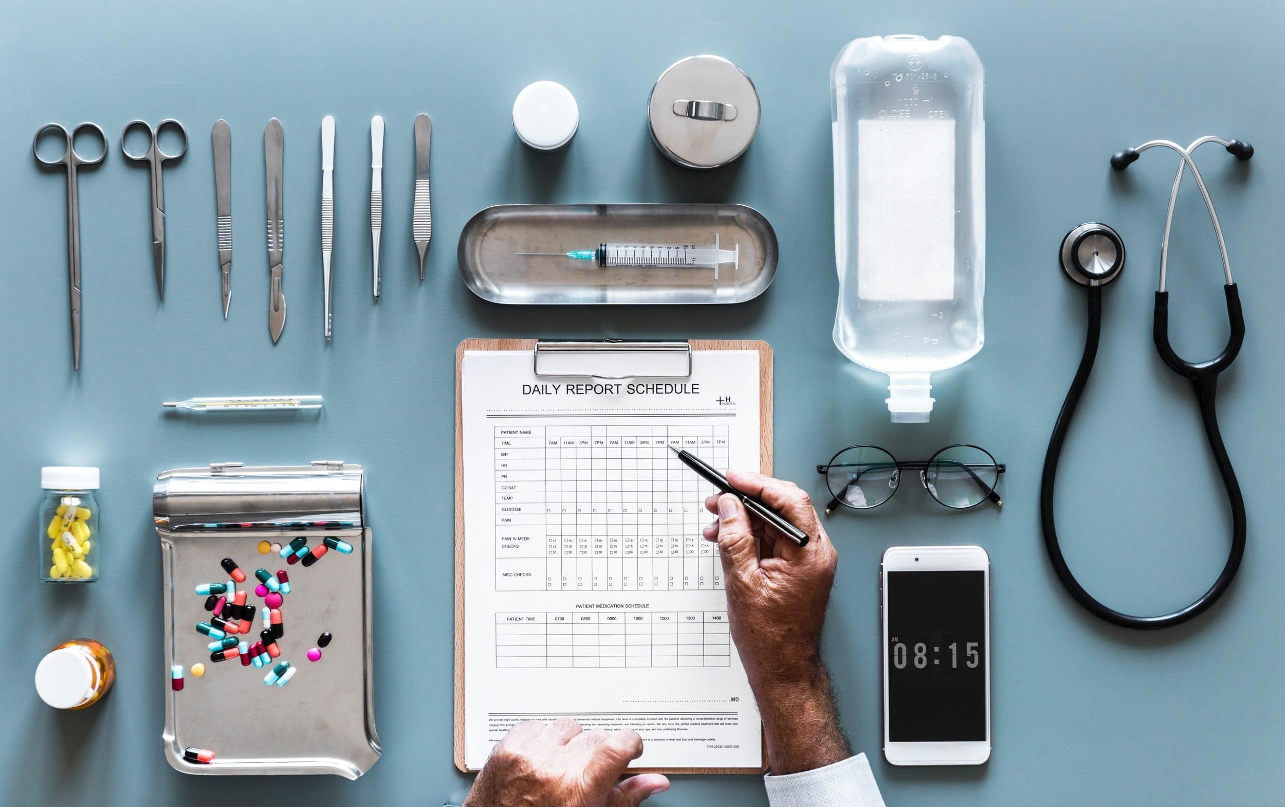 Le bureau d'un docteur en medecine