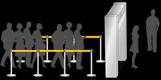Controle aux rayons x dans les aéroports